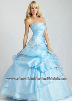 A Linie Abendkleid Ballkleid Brautkleid in Hell Blau