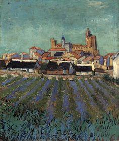 Van Gogh, View of Saintes-Maries, June 1888. Oil on canvas, 64 x 53 cm. Kröller-Müller Museum, Otterlo.