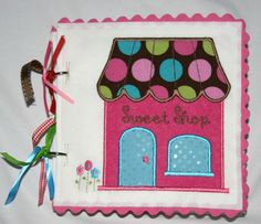 Sweet Shop Quiet Book Pattern for Machine Embroidery-DIY. $20.00, via Etsy.