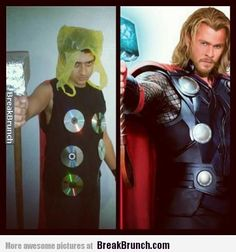 Awesome Thor Costume... on a budget! Haha #Marvel #Avengers #Comicbooks