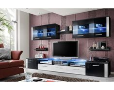 Browse modern and classic living room wall units for tv & entertainment center Modern Tv Wall Units, Modern Wall, Media Wall Unit, Entertainment Center Furniture, Entertainment Stand, Wall Unit Designs, Wall Storage Systems, Living Room Wall Units, Classic Living Room