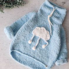 29 Super Ideas For Knitting Baby Pullover Jackets Baby Knitting Patterns, Baby Sweater Knitting Pattern, Baby Girl Patterns, Knitting For Kids, Hand Knitting, Sweater Patterns, Crochet Patterns, Crochet Baby Jacket, Crochet Baby Sweaters