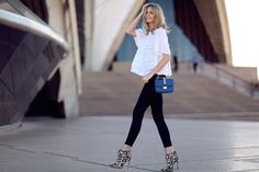 Paige Denim Transcend jeans, Love Sam lace blouse (similar here), Valentino bag, The Mode Collective ankle boots, Elizabeth and James ring, Jennifer Myer ring
