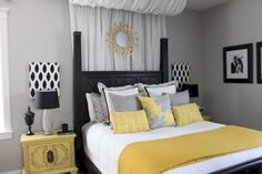 nice 60 Visually Pleasant Yellow And Grey Bedroom Designs Ideas