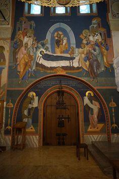 Byzantine Art, Byzantine Icons, Sacred Heart Tattoos, Religious Paintings, Church Interior, Orthodox Icons, Sacred Art, Christian Art, Christianity