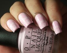 The Clockwise Nail Polish: OPI Mod About You & Delicate Stamping
