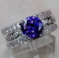 WELCOME TO CINDERELLA'S REVENGE  ~Home of Cool Items at Even Cooler Prices for the Coolest People~  FIRST TIME VISITING US? PLEASE READ EVERYTHING BELOW! RETURN VISIT? PLEASE READ ITEM DESCRIPTION CAREFULLY. THANKS!  EXCEPTIONAL TRIPLE BAND AMETHYST ...