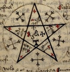 Ceremonial Magick:  #Ceremonial #Magick ~ Pentacle from the Rawlinson necromantic manuscript, 15th century.