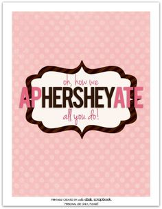 teacher appreciation gift idea--Hershey bar wrapper @Emily Schoenfeld Pinkerton click scrapbook