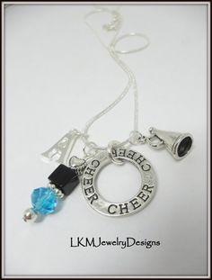 Cheerleading Necklace Cheerleader Charm by LKMJewelryDesigns, $12.00