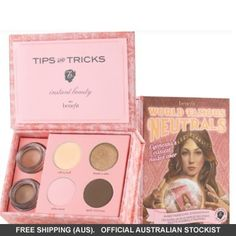 Benefit World Famous Neutrals Easiest Nudes Ever Eyeshadow Kit Benefit Cosmetics, Makeup Cosmetics, Thanks A Latte, Simple Eyeshadow, Beauty Kit, Perfect Eyes, World Famous, Facial Care, Eye Make Up