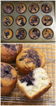 Bisquick blueberry muffins made with pancake mix. #bisquick #blueberry #muffins #pancakes