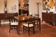 American-Made Hardwood Furniture Living Articles from Country View Woodworking Luxury Dining Room, Dining Room Sets, Dining Table Chairs, Dining Room Design, Contemporary Dining Room Furniture, Living Furniture, Hardwood Furniture, Amish Furniture, Colorful Kitchen Decor