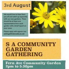 SA Community Garden Gathering — Sun 3 Aug 2014