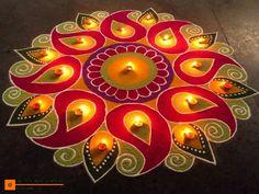 Beautiful Happy Diwali Rangoli easy and simple ideas Check some easy decorations of Deepawali Rangoli with symbols like Swastik & Ganesha, Happy Diwali Rangoli, Easy Rangoli Designs Diwali, Rangoli Simple, Indian Rangoli Designs, Rangoli Designs Latest, Simple Rangoli Designs Images, Rangoli Designs Flower, Free Hand Rangoli Design, Rangoli Border Designs