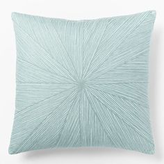 Embroidered Starburst Pillow Cover - Light Pool | west elm