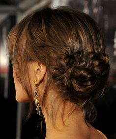"""""""the loopy bun"""" love this updo."""