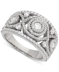 Wrapped in Love Diamond Cluster Ring (1-1/2 ct. t.w.) in 14k White Gold