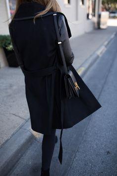 Black Wool Coat #styleblogger #winter #style