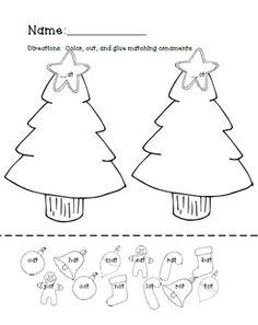 CVC Holiday Cut and Glue
