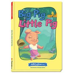 Big Pig and Little Pig - Hardcover book from ABCmouse.com. 4 years & up, 32 pages.  The little pig finds a fig, which she kindly shares with the big pig. As they read Big Pig and Little Pig, children will encounter several words in the –ig word family. A delightful rhyming narrative about sharing, this hardcover book from ABCmouse.com also contains several important sight words, such as like, little, and the.