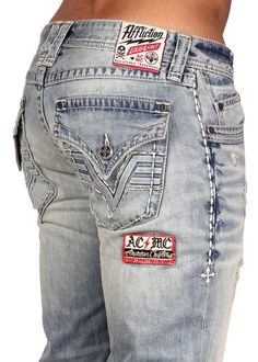 Style Addiction - Affliction Mens Ace 3D V Flap Denim Jeans 110SS007, $129.99 (http://www.styleaddiction.com/affliction-mens-ace-3d-v-flap-denim-jeans-110ss007/)