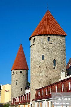 Town wall, Old town, Tallinn, Estonia, Baltic states, Europe / city wall