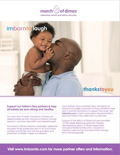 What were you born to be? I was born to be a mom, teacher, and entrepreneur. Celebrate this Father's Day by giving a gift to dad that gives to a great cause - research to help every family have a healthy baby and will help your children grow up to be what they were born to do. #imbornto #MoDSquad