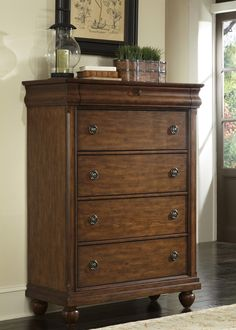 Rustic Traditions 5 Drawer Chest by Liberty - Home Gallery Stores