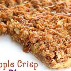 Apple Crisp Pizza....easily made vegan