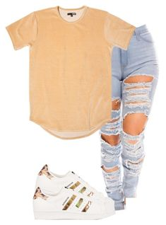 """Untitled #78"" by mira-alsina ❤ liked on Polyvore featuring adidas Originals"