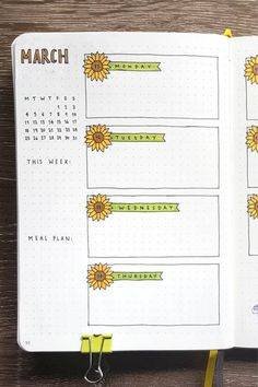Bullet Journal Weekly Spread Ideas For March 2019 Bullet Journal Weekly Spread Ideas For March is in the air and its time to start off a new week in your bullet journal! Bullet Journal Weekly Spread, March Bullet Journal, Bullet Journal Writing, Bullet Journal Banner, Bullet Journal School, Bullet Journal Aesthetic, Bullet Journal Notebook, Bullet Journal Ideas Pages, Bullet Journal Inspo