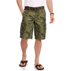 Faded Glory Big Men's Ripstop Cargo Short, Size: 54, Green