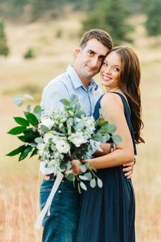Photography: Emily Sacco - emilysacco.com Dress: Free People - www.freepeople.com Floral Design: Bella Lu Floral - bellalufloral.com   Read More on SMP: http://www.stylemepretty.com/2015/12/17/veterans-romantic-mountain-engagement-session/