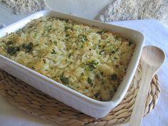Um prato preparado de improviso, ao qual pode acrescentar espinafres ou outros ingredientes da sua preferência
