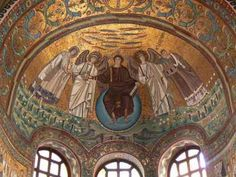 ravenna italy art and architecture - interesting painting of Jesus ...roman style...no beard..the art in this city is amazing!
