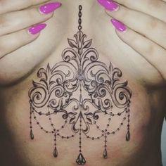 sternum tattoo chandelier - Google Search