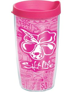 Enjoy your favorite beverage in the Tervis Salt Life & Hibiscus 16 oz. Suitable for hot or cold drinks. Tervis Tumbler, Tumbler Cups, Tumblers, Drink Holder, Outdoor Life, Hibiscus, Coffee Mugs, Salt, Cool Stuff