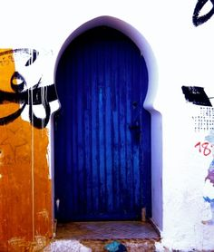 A Gorgeous door in Asilah, Morocco