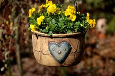 ... Planter Pots, Angels, Hearts, Clay, Ceramics, Garden, Clays, Pottery, Garten
