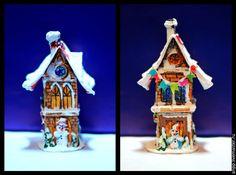 Купить Домик счастья - разноцветный, домик, новогодний подарок, новогодний сувенир, новогодний декор