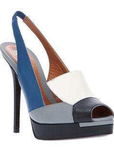 FENDI Sandália Azul E Cinza.