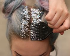 Glitter is good. But let's be honest—too much glitter is a huge problem. That's why glitter roots have a special place in our hearts. It's like a party without all the drama. For the best effect, pair with double-braids or -buns.