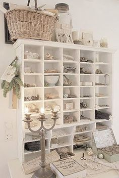 love these cubbies! would be great in my scrapbook room