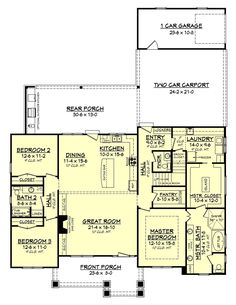 This wonderful 3 bedroom, 2 ½ bath house plan is loaded with features and style. It offers a luxurious master suite, oversized utility room, mudroom entry with lockers, large walk-in pantry, specialty ceilings and tremendous curb appeal.