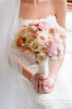 Wedding Bouquets Inspiration : Pink nautical bouquet: www.stylemepretty | Photography: Brian Dorsey Studios