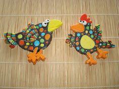 oiseaux  A vendre sur mon site ALM: http://www.alittlemarket.com/decorations-murales/fr_2_oiseaux_noirs_en_ceramique_emaillee_a_la_maniere_d_une_mosaique_-11880151.html
