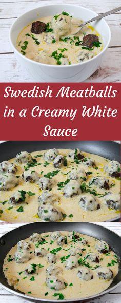 Swedish Meatballs in a Creamy White Sauce