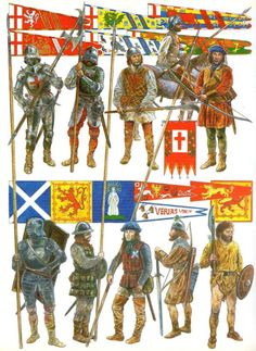 Scottish soldiers at the Battle of Flodden Field (9 Sep 1513)