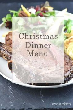 Christmas Dinner Menu with Tips for Making as Much Ahead as Possible! While our Christmas dinner menu may change slightly from year to year, it is always a meal that I love hosting for my family. Prime Rib Dinner, Planning Menu, Holiday Recipes, Christmas Recipes, Christmas Dinners, Holiday Meals, Holiday Dinner, Christmas Dinner Ideas Family, Christmas Buffet Menu